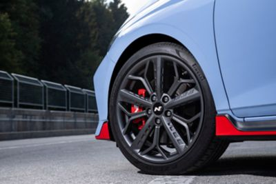 "The 18"" alloy wheels on the all-new Hyundai i20 N."
